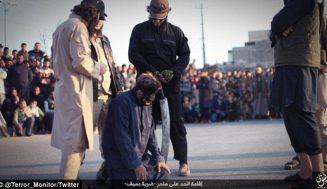 """Смразяващо! Вижте масовото клане, което прави """"Ислямска държава"""" пред погледа на невинни деца (видео)"""