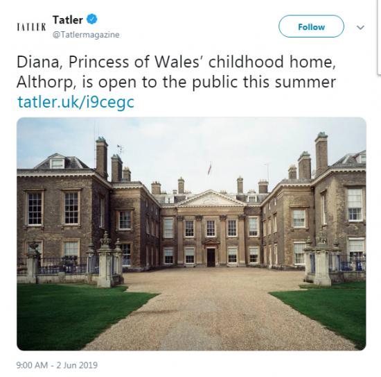 Домът на принцеса Даяна